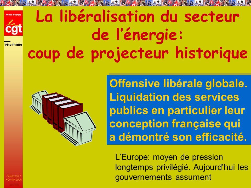 Pôle Public JMK 2003 FNME CGT Février 2006 34 Ce qui a déjà été fait Partir du réel pour construire lavenir Le colloque européen coorganisé par l´EPSU et la FNME a fait l´objet d´un CR adressé aux syndicats.