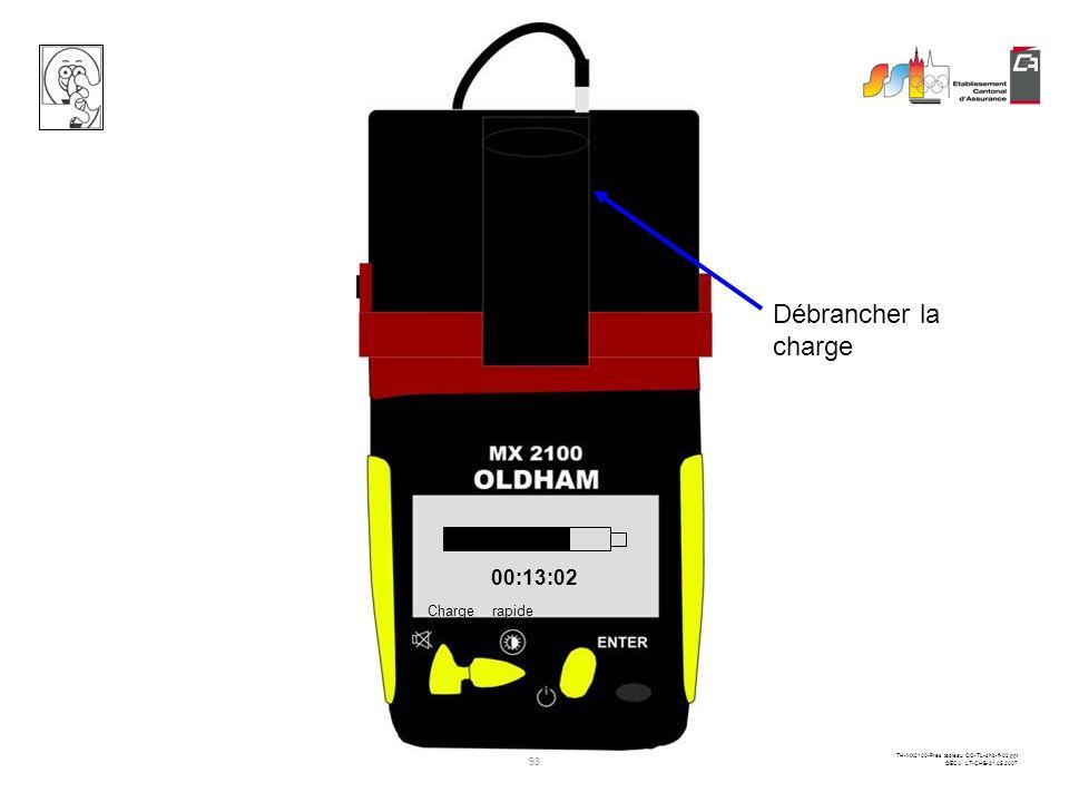 92 TH-MX2100-Pres tableau CO-TL-chb-fi-02.ppt ©ECA LT-CHB-31.05.2007 Notez toujours les mesures avant la mise à zéro ou la mise hors service du détect