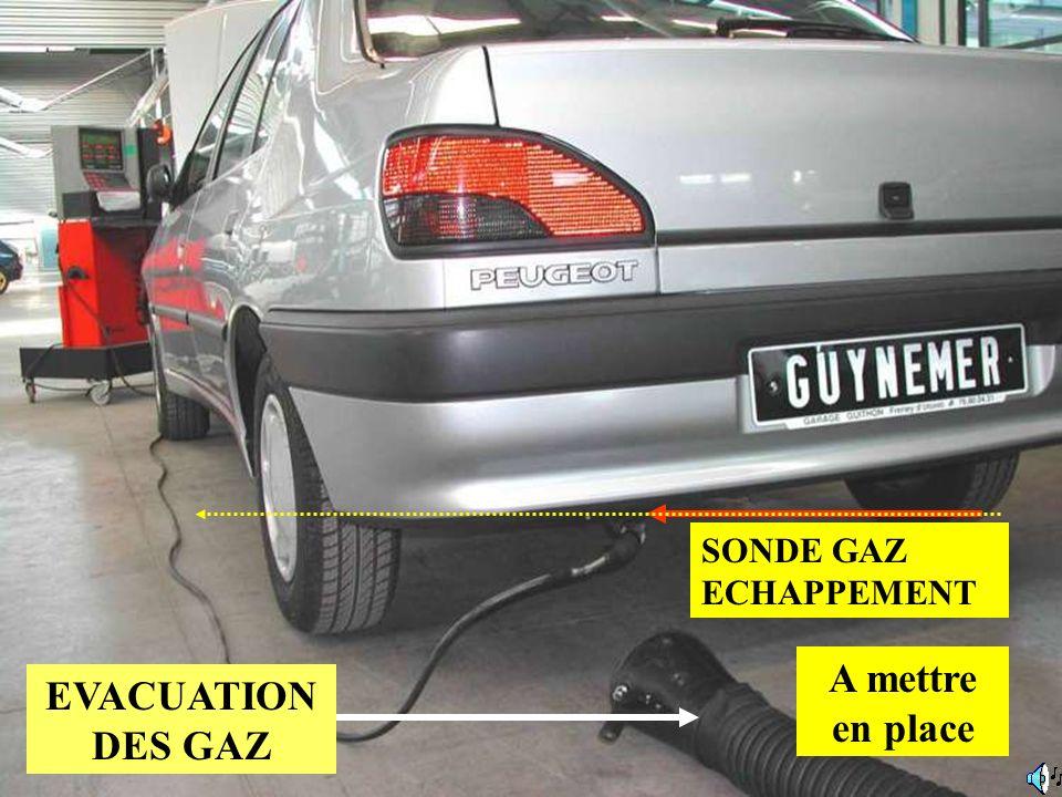SONDE GAZ ECHAPPEMENT EVACUATION DES GAZ A mettre en place