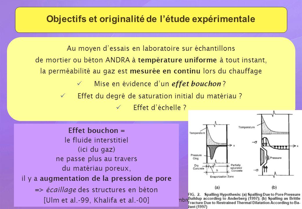 Revue du GL ESC - 15 et 16 septembre 2009 7 Objectifs et originalité de létude expérimentale Au moyen dessais en laboratoire sur échantillons de morti