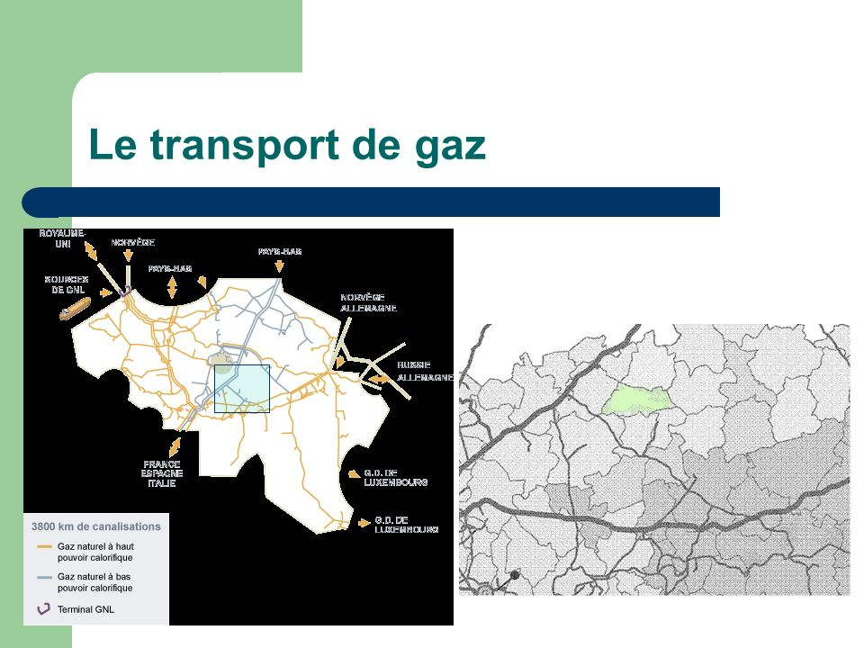 Le transport de gaz