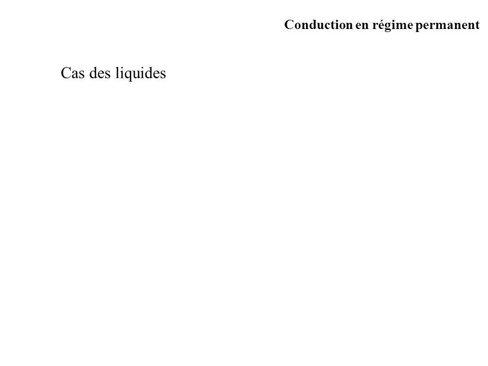 Cas des liquides Conduction en régime permanent