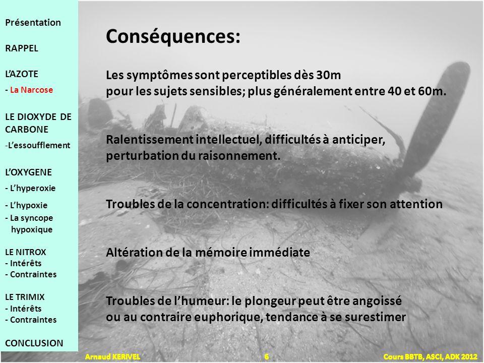 Lutilisation des Gaz en plongée Arnaud KERIVEL 37 Cours BBTB, ASCI, ADK 2012 Présentation RAPPEL LAZOTE - La Narcose LE DIOXYDE DE CARBONE -Lessoufflement LOXYGENE - Lhyperoxie - Lhypoxie - La syncope hypoxique LE NITROX - Intérêts - Contraintes LE TRIMIX - Intérêts - Contraintes CONCLUSION