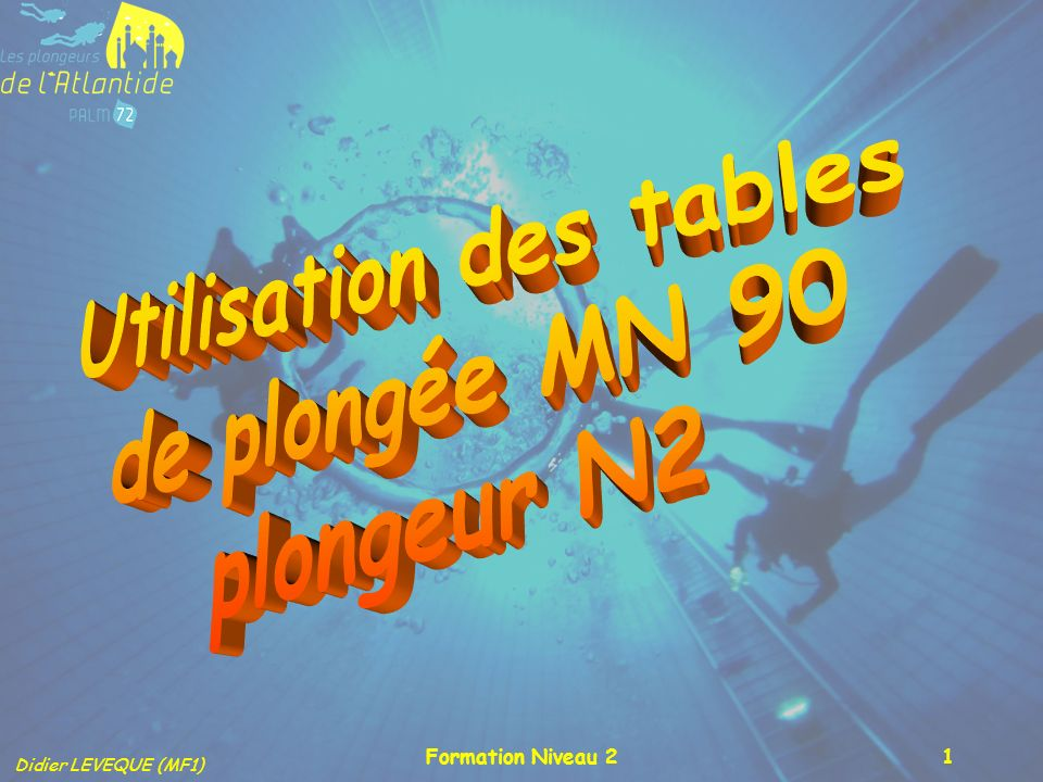 Didier LEVEQUE (MF1) Formation Niveau 21