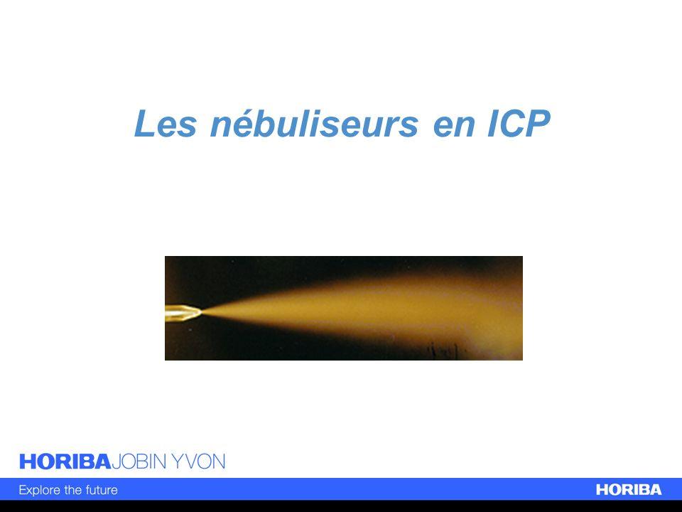 Conséquences Même en utilisant des nébuliseurs avec un capillaire, il existe des gouttes de plusieurs dizaines de m.