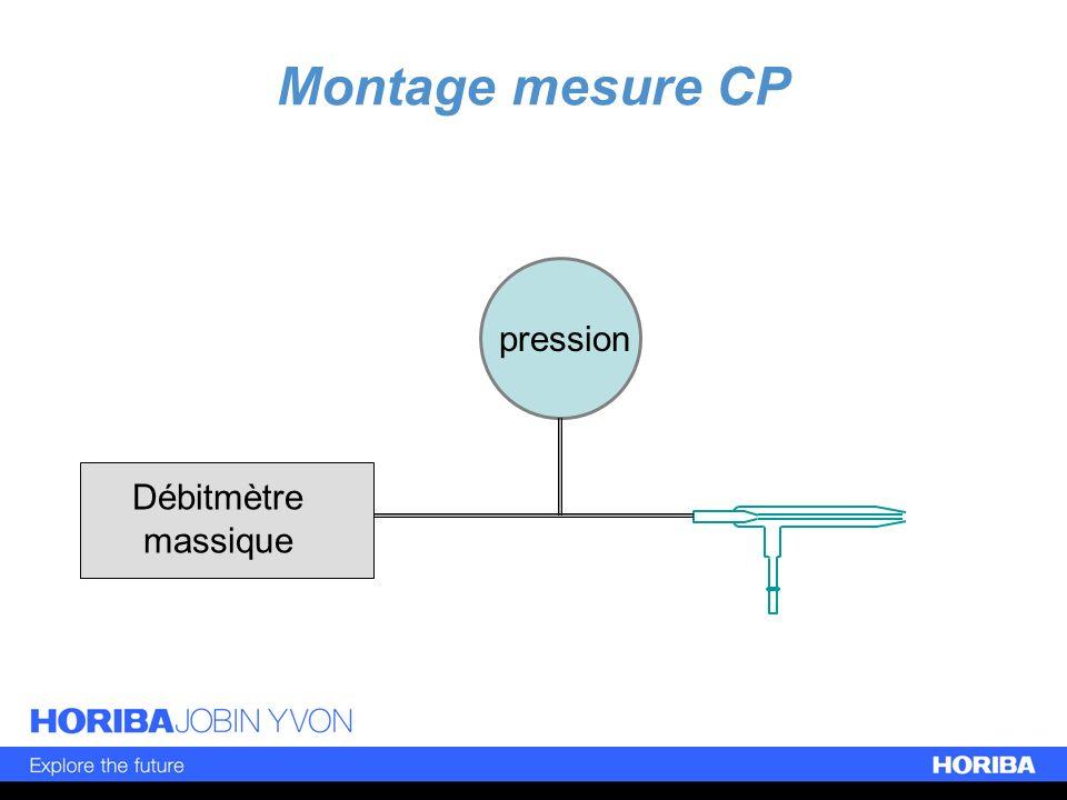 Montage mesure CP Débitmètre massique pression
