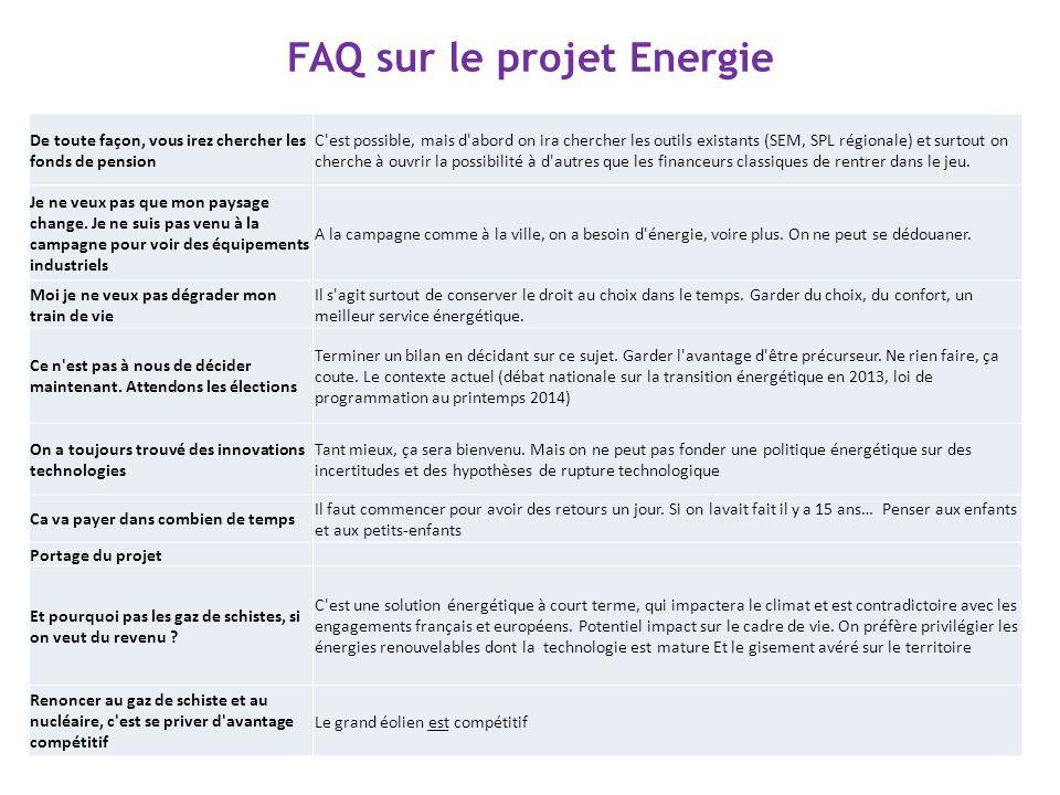 FAQ sur le projet Energie De toute façon, vous irez chercher les fonds de pension C'est possible, mais d'abord on ira chercher les outils existants (S