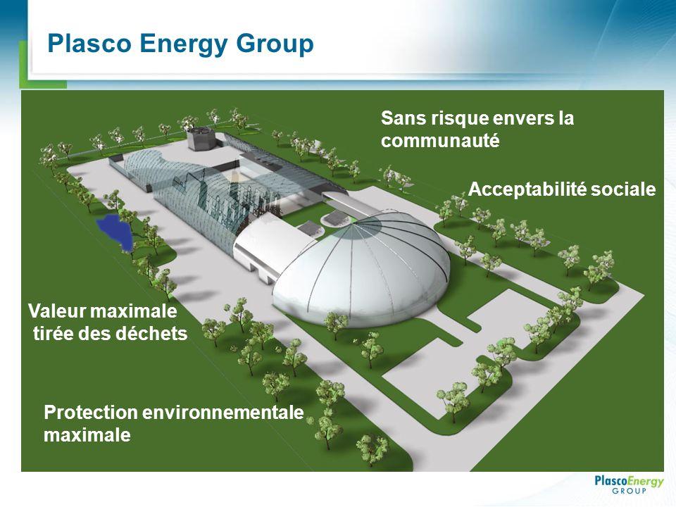 Plasco Energy Group Valeur maximale tirée des déchets Protection environnementale maximale Sans risque envers la communauté Acceptabilité sociale