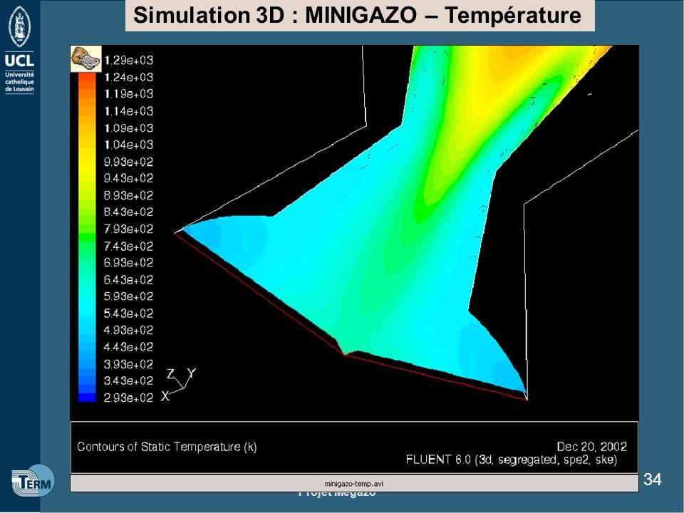 Projet Megazo 34 Simulation 3D : MINIGAZO – Température