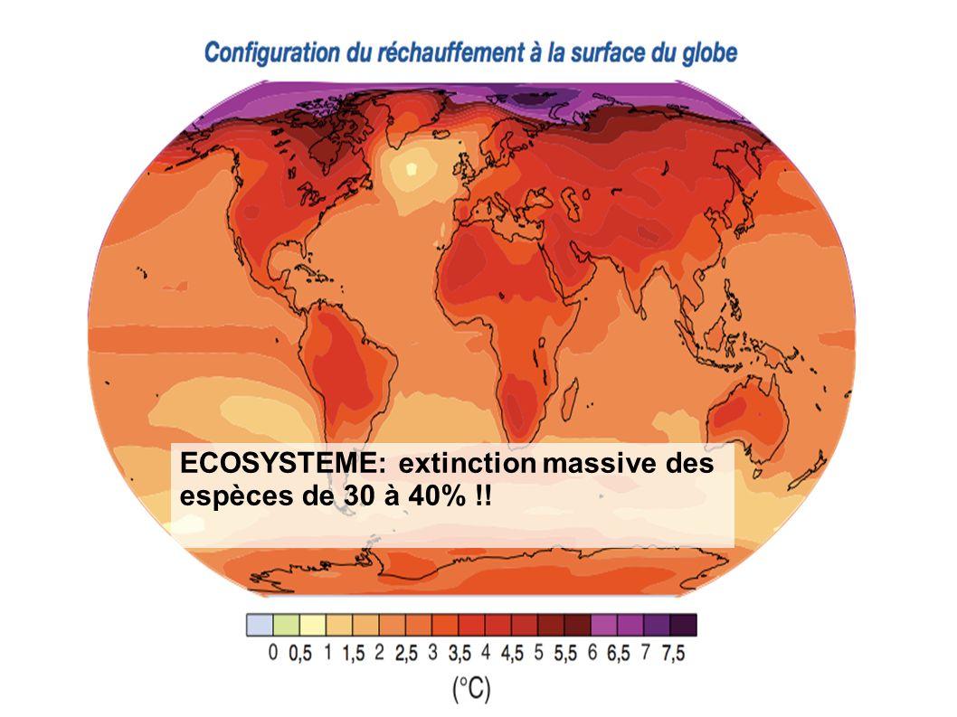 ECOSYSTEME: extinction massive des espèces de 30 à 40% !!