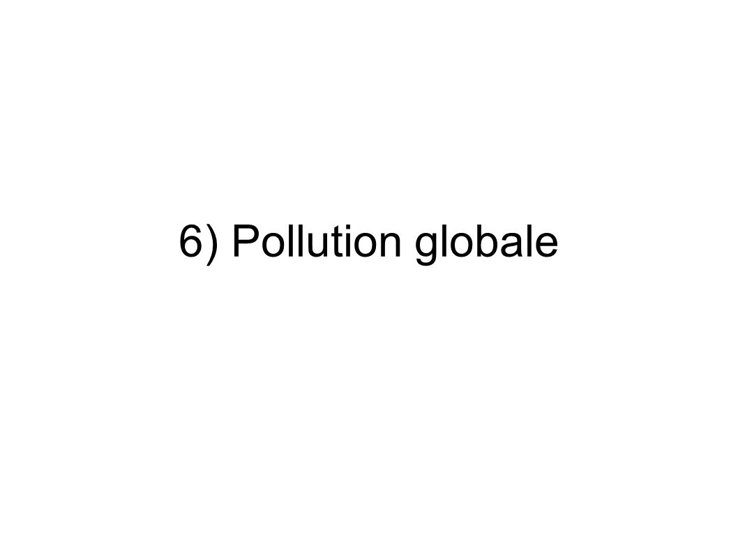 6) Pollution globale