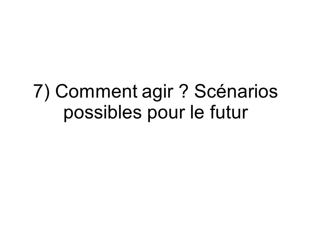 7) Comment agir ? Scénarios possibles pour le futur