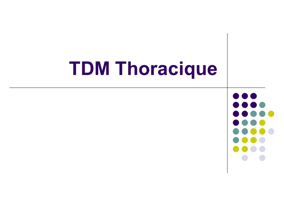 TDM Thoracique