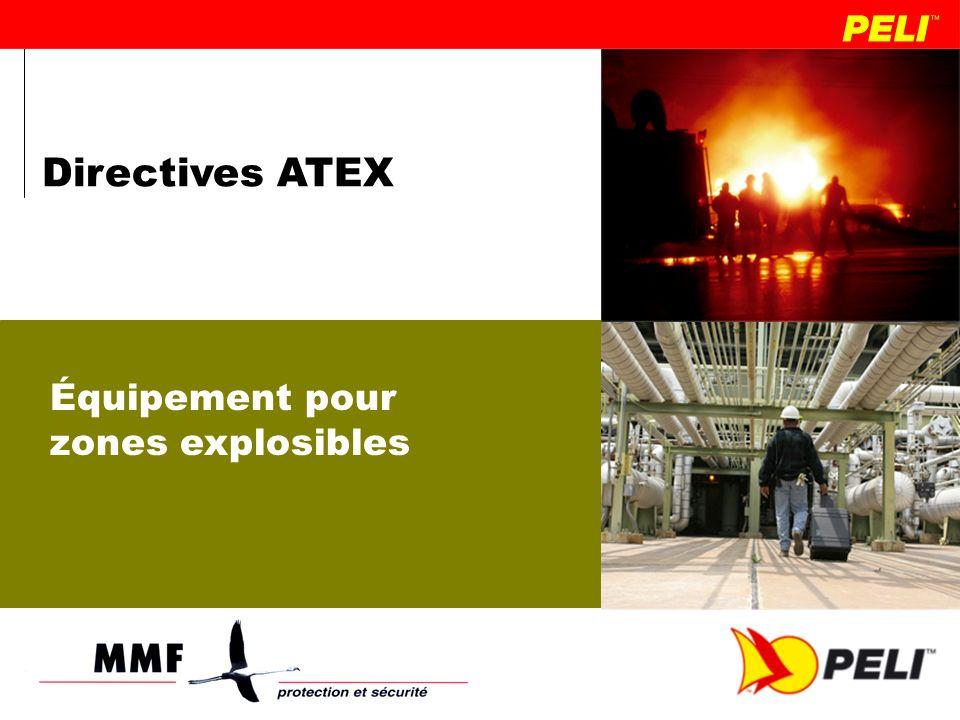 Directives ATEX Équipement pour zones explosibles