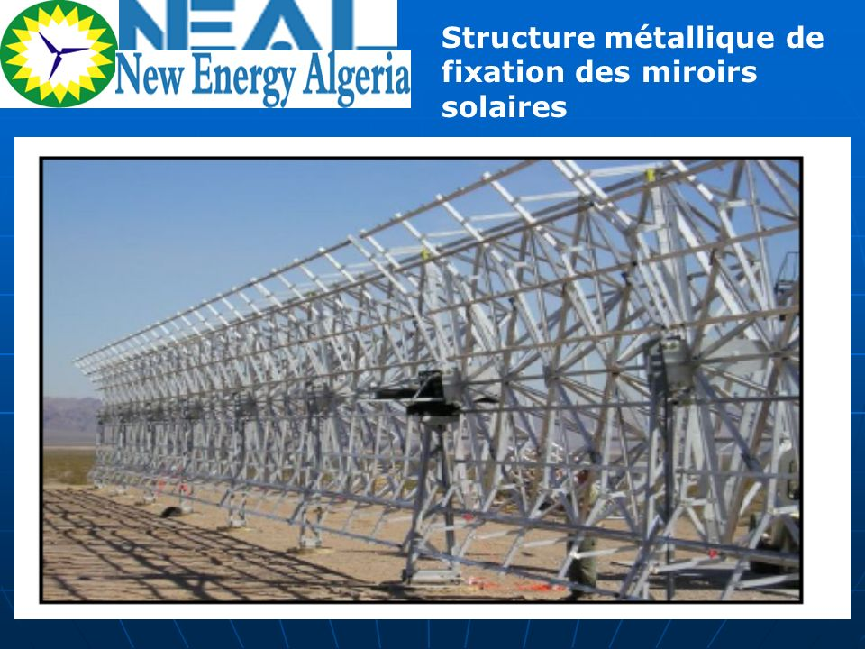 Structure métallique de fixation des miroirs solaires