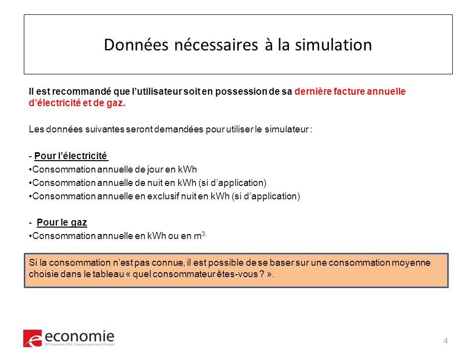 Etape 4 : Consommation Cas 1 : le citoyen connaît ses données de consommation.