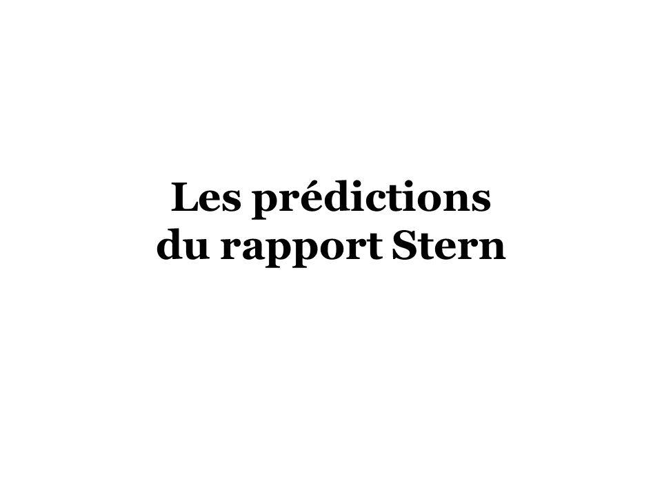 Les prédictions du rapport Stern