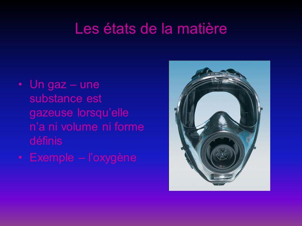 Les états de la matière Trouvez au moins deux autres exemples de chaque états de la matière : solides, liquides et gaz.