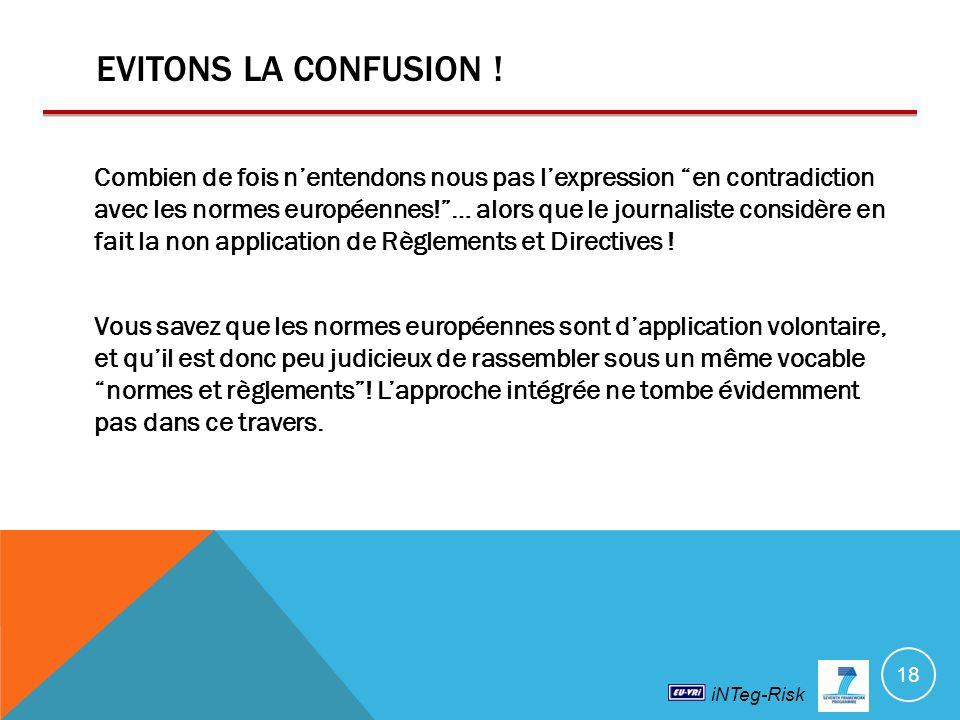 iNTeg-Risk EVITONS LA CONFUSION .