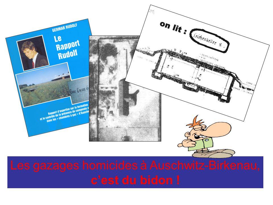 Les gazages homicides à Auschwitz-Birkenau, cest du bidon !