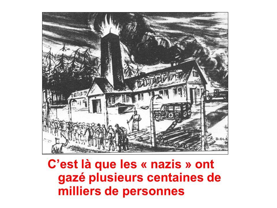 Cest là que les « nazis » ont gazé plusieurs centaines de milliers de personnes