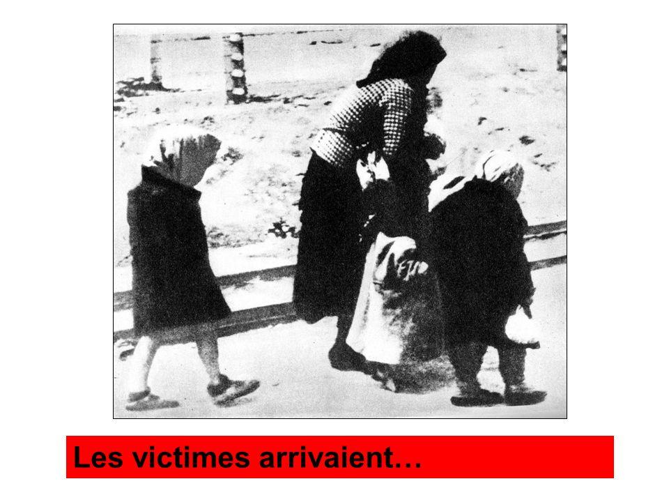 Les victimes arrivaient…