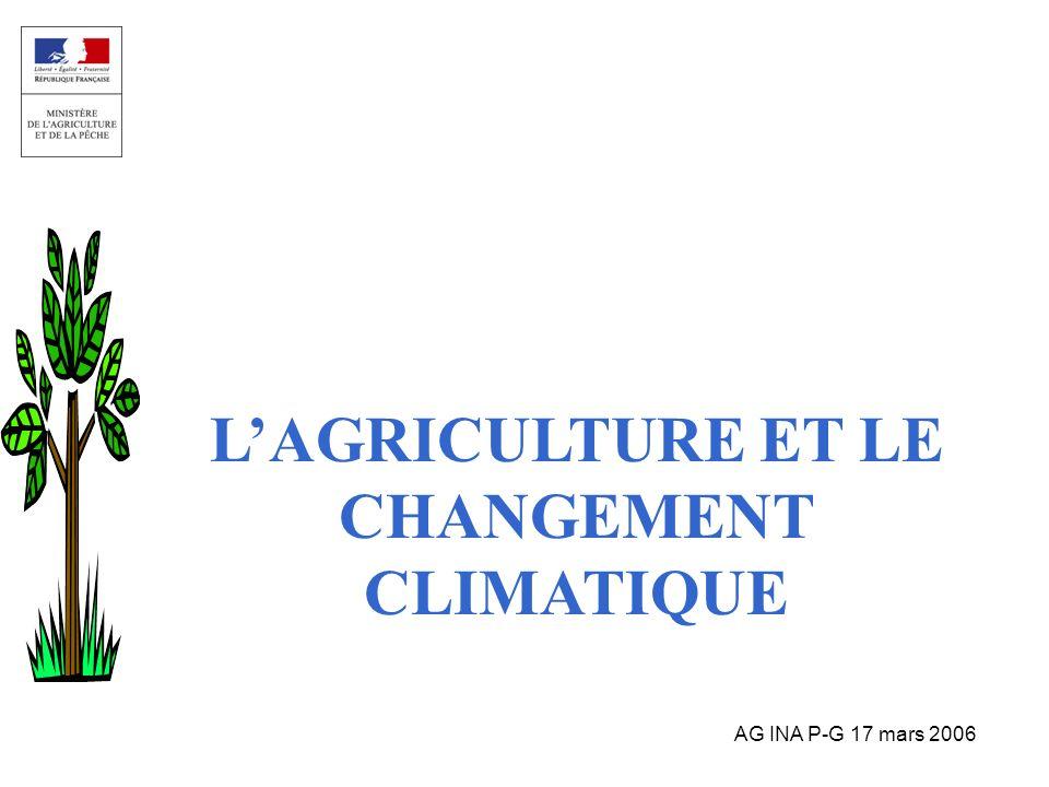AG INA P-G 17 mars 2006 LAGRICULTURE ET LE CHANGEMENT CLIMATIQUE