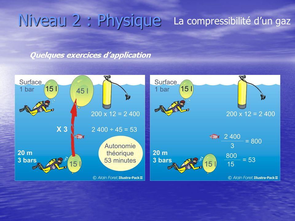 Niveau 2 : Physique La compressibilité dun gaz Quelques exercices dapplication