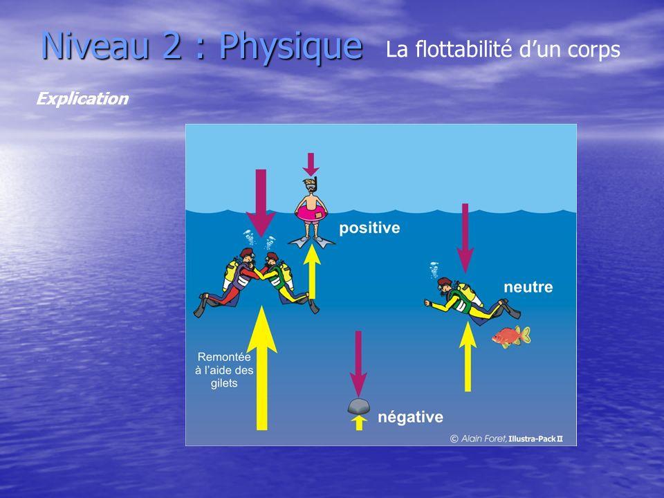 Niveau 2 : Physique La flottabilité dun corps Explication