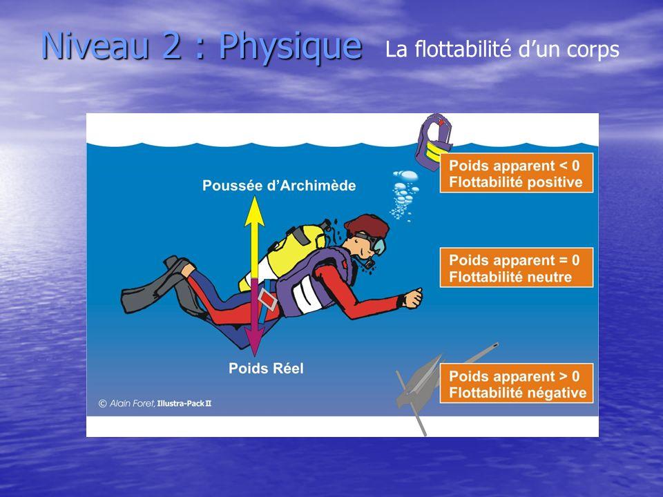 Niveau 2 : Physique La flottabilité dun corps