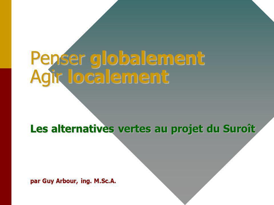 1 Penser globalement Agir localement Les alternatives vertes au projet du Suroît par Guy Arbour, ing.
