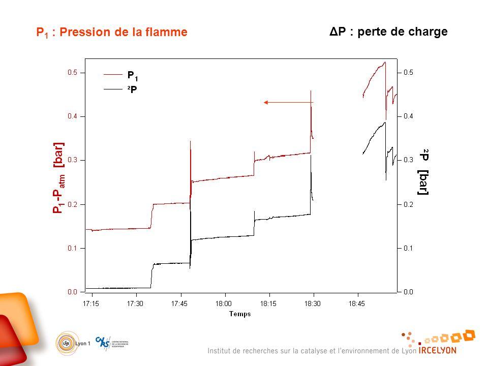 P 1 : Pression de la flamme ΔP : perte de charge