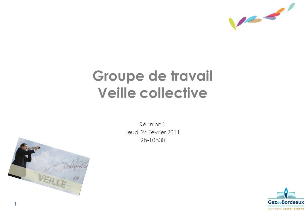 1 Groupe de travail Veille collective Réunion 1 Jeudi 24 Février 2011 9h-10h30