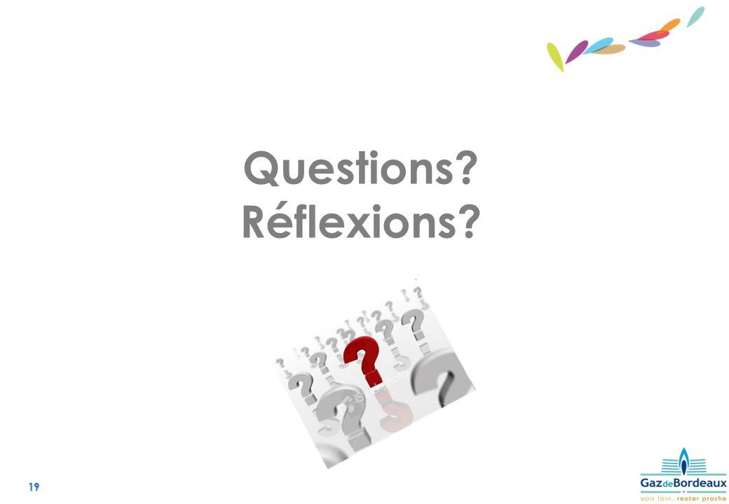 19 Questions? Réflexions?