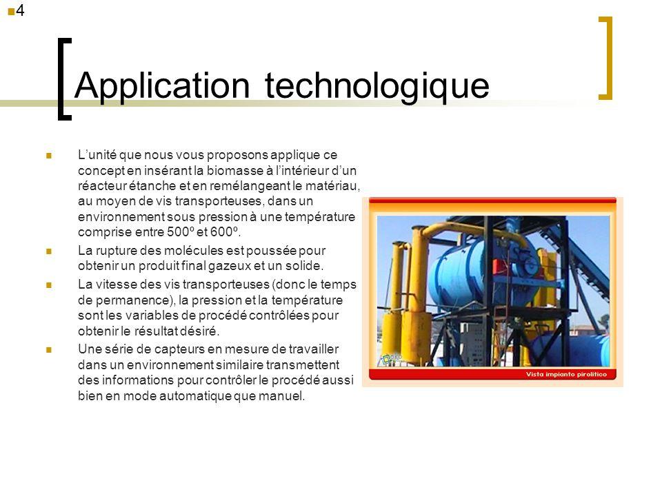 Application technologique Lunité que nous vous proposons applique ce concept en insérant la biomasse à lintérieur dun réacteur étanche et en remélange