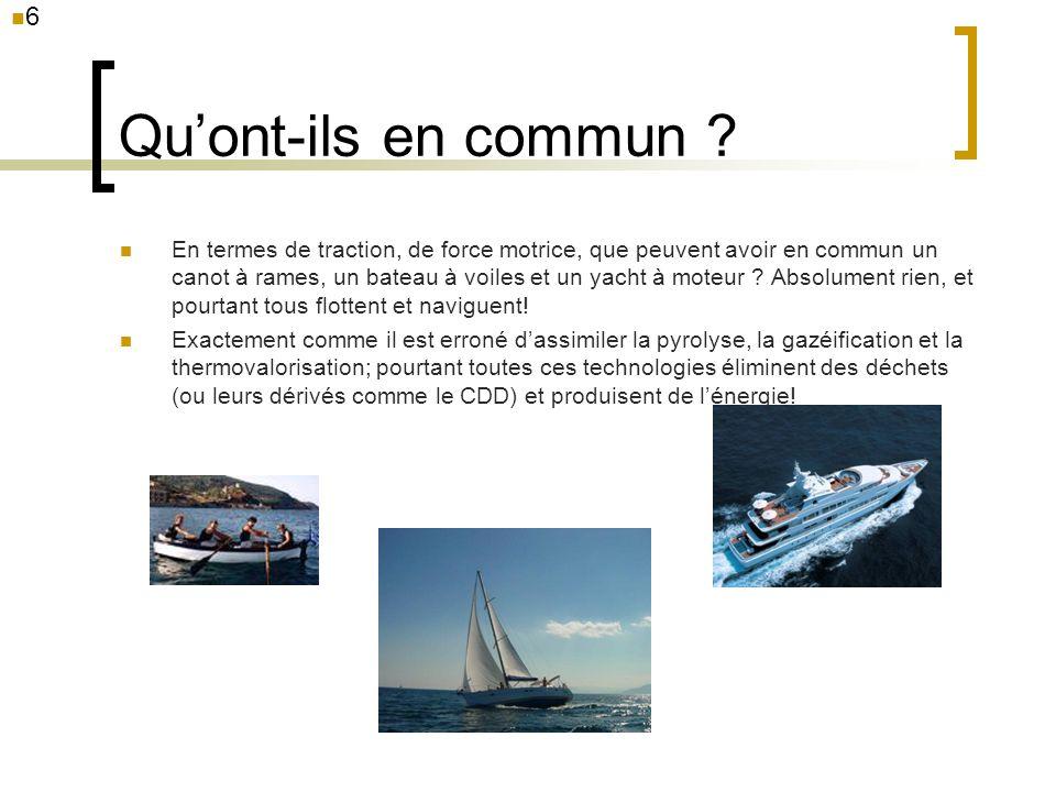 Quont-ils en commun ? En termes de traction, de force motrice, que peuvent avoir en commun un canot à rames, un bateau à voiles et un yacht à moteur ?