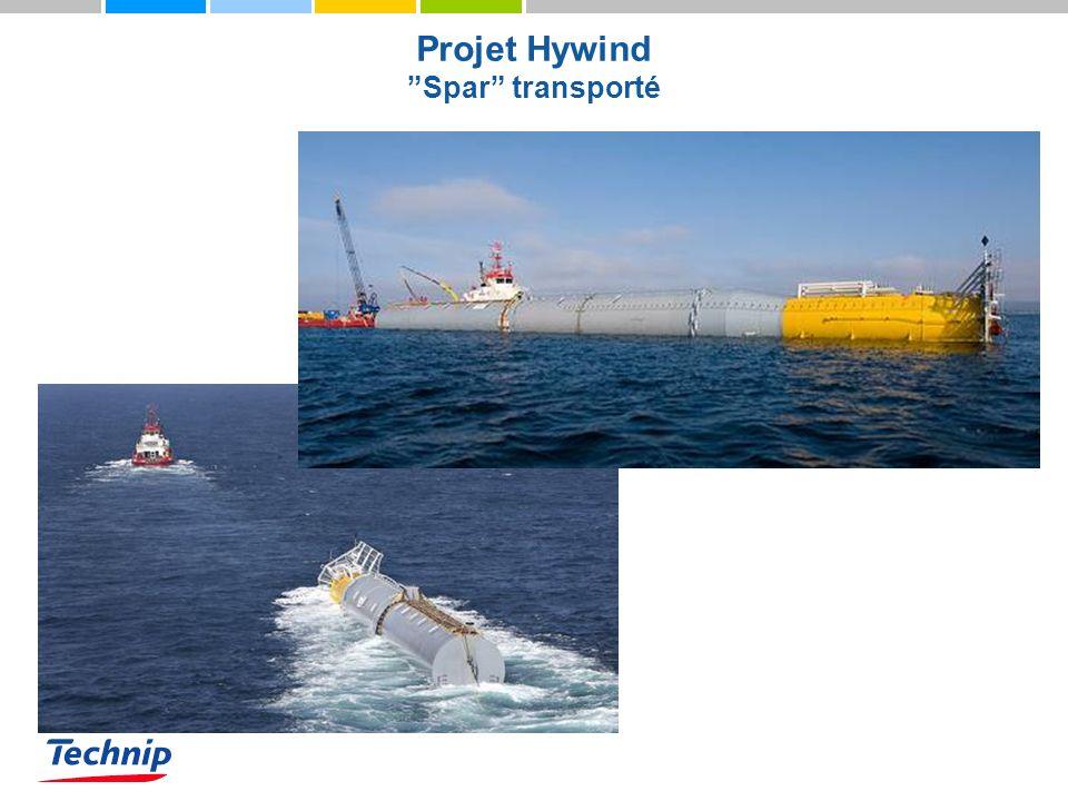 Projet Hywind Spar transporté