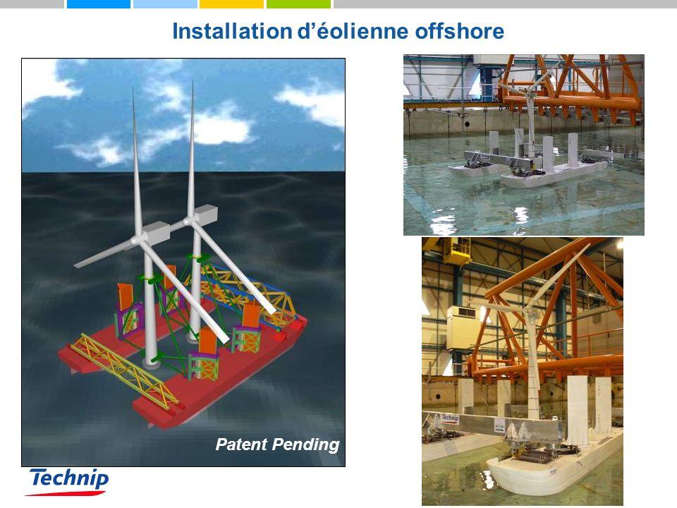 Installation déolienne offshore Patent Pending