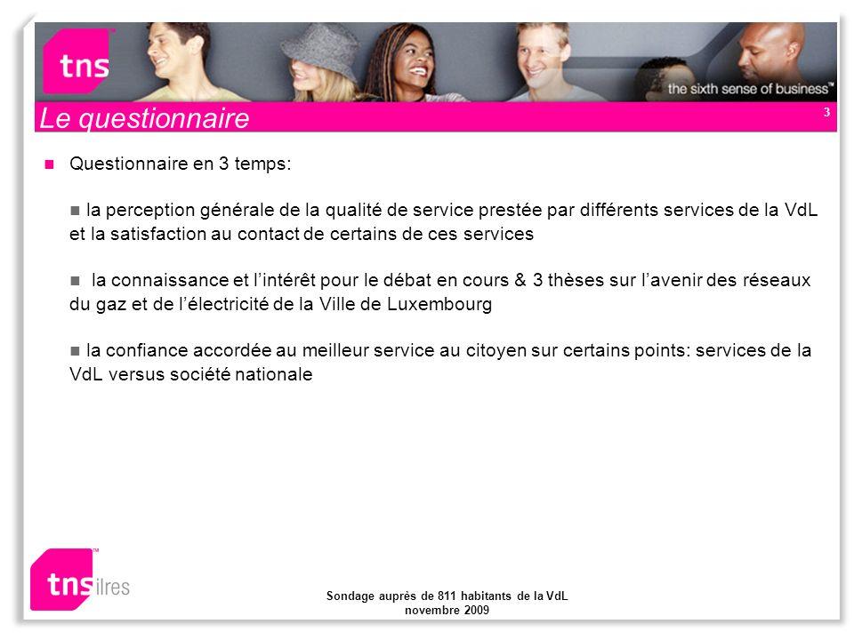 Sondage auprès de 811 habitants de la VdL novembre 2009 14 Confiance accordée… pour un meilleur service au citoyen
