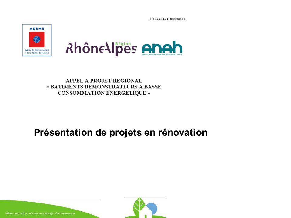 Présentation de projets en rénovation
