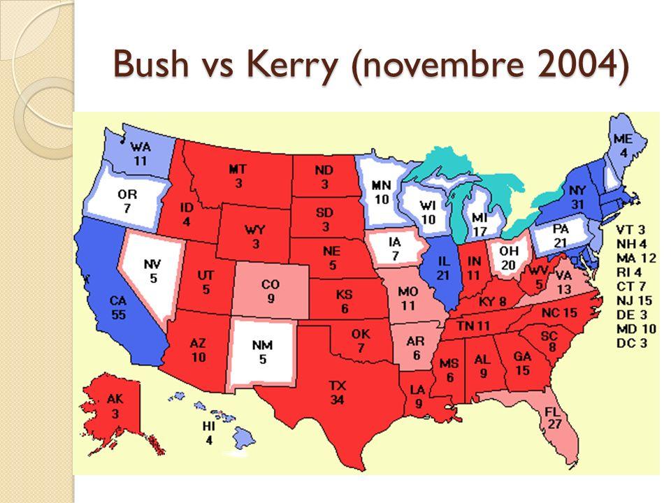 Bush vs Kerry (novembre 2004)