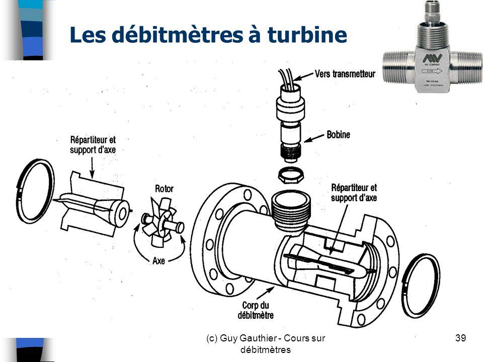 Les débitmètres à turbine 39(c) Guy Gauthier - Cours sur débitmètres