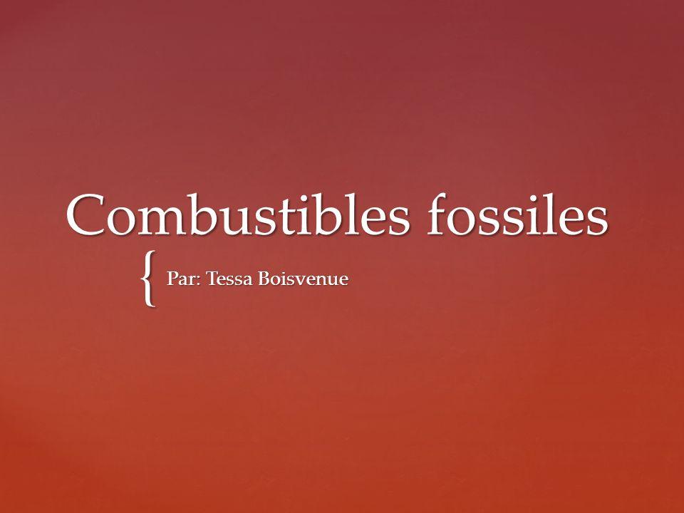 { Combustibles fossiles Par: Tessa Boisvenue
