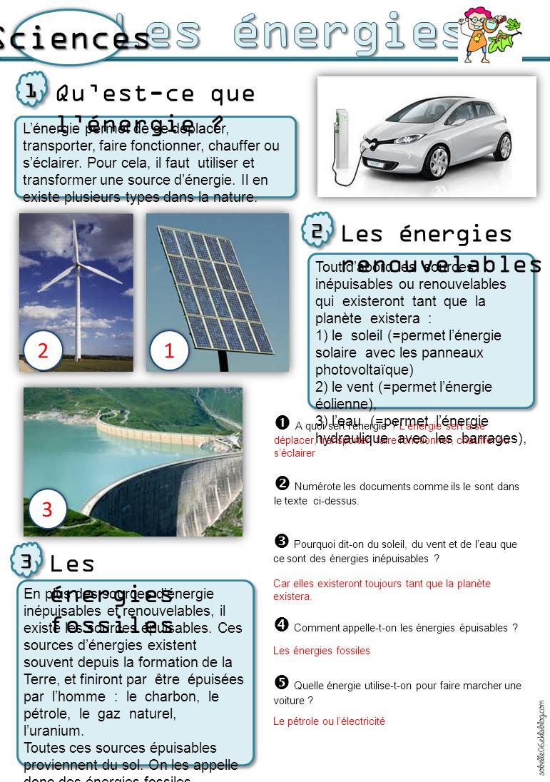 o La fourniture d un kWh d électricité par EDF en 2012 a induit : l émission de 50,0 grammes de dioxyde de carbone (CO 2 ) o La génération de déchets radioactifs : * vie courte : 9,4 mg/kWh * vie longue : 0,9 mg/kWh Avantages et inconvénients de toutes ces énergies 4 Lutilisation des énergies fossiles (ou épuisables) comme le charbon, le pétrole ou le gaz, produit beaucoup de pollution dans lair que lon respire car la production délectricité rejette de la vapeur deau et du dioxyde de carbone quon appelle aussi CO2.