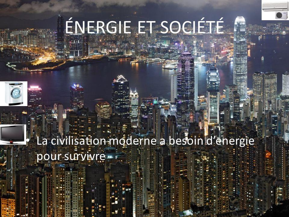 ÉNERGIE ET SOCIÉTÉ La civilisation moderne a besoin denergie pour survivre