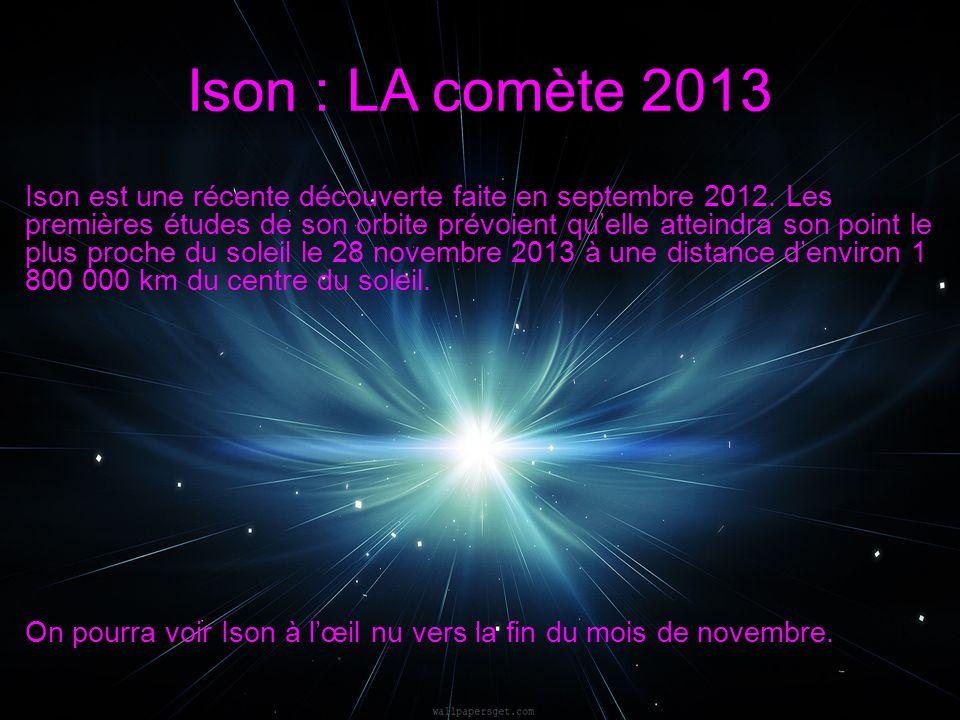 Ison est une récente découverte faite en septembre 2012.
