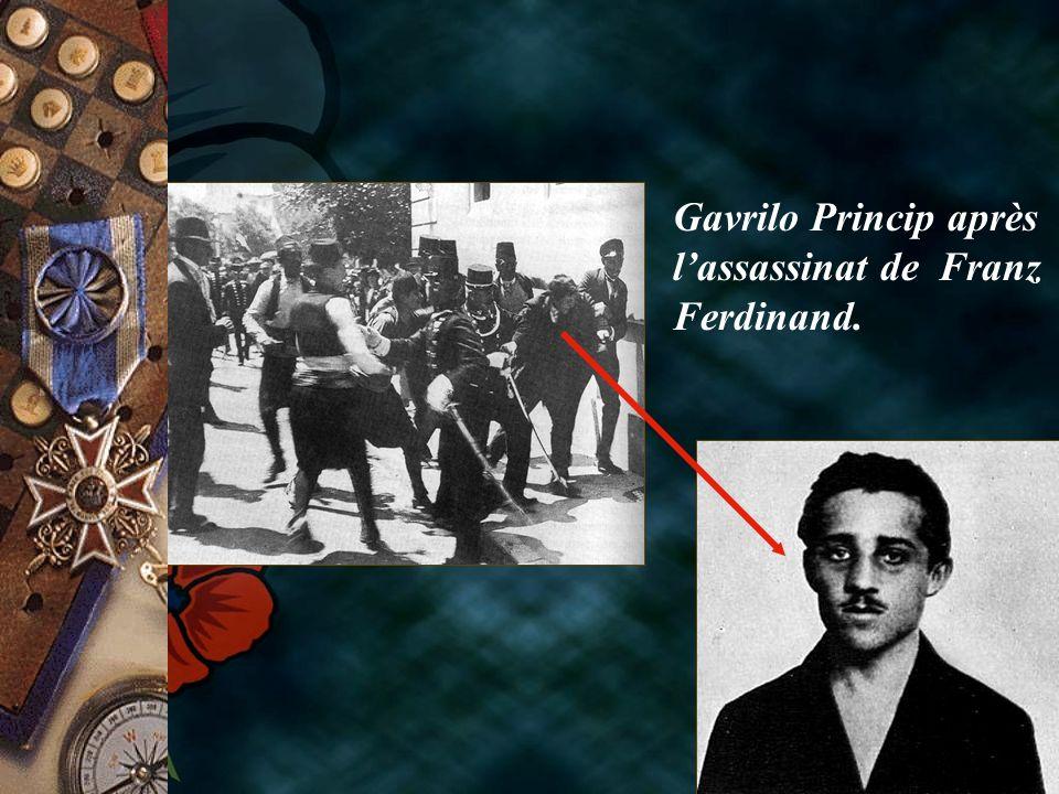 Gavrilo Princip après lassassinat de Franz Ferdinand.