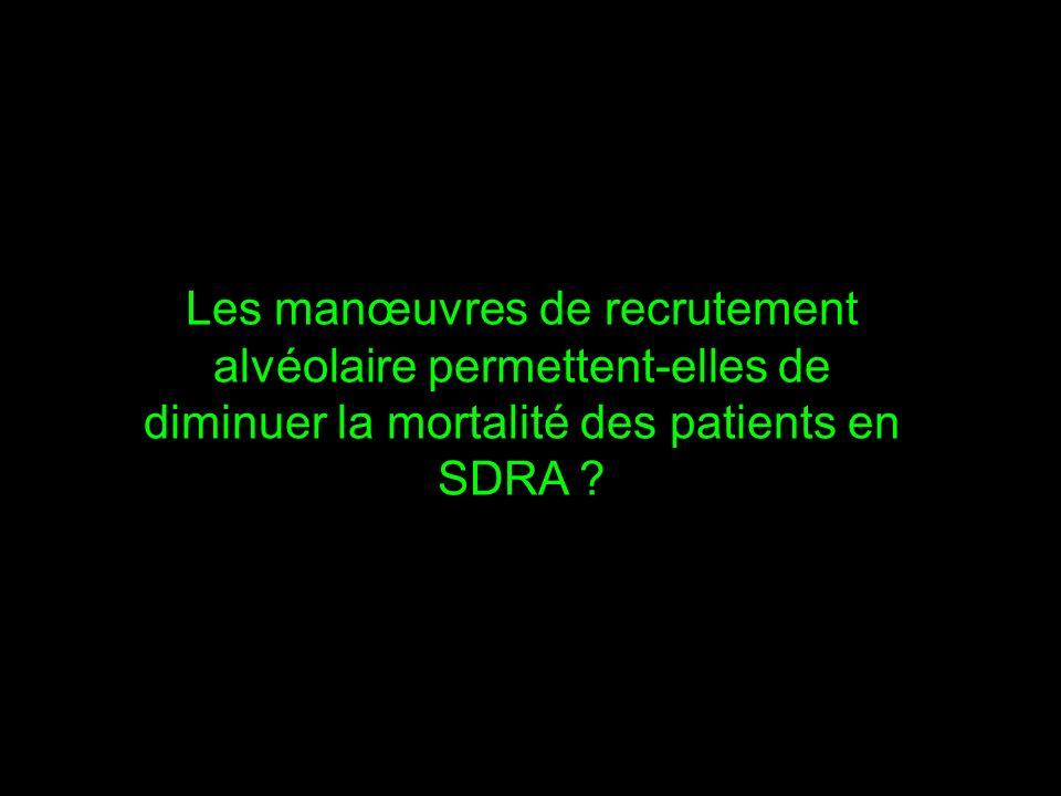 Les manœuvres de recrutement alvéolaire permettent-elles de diminuer la mortalité des patients en SDRA ?