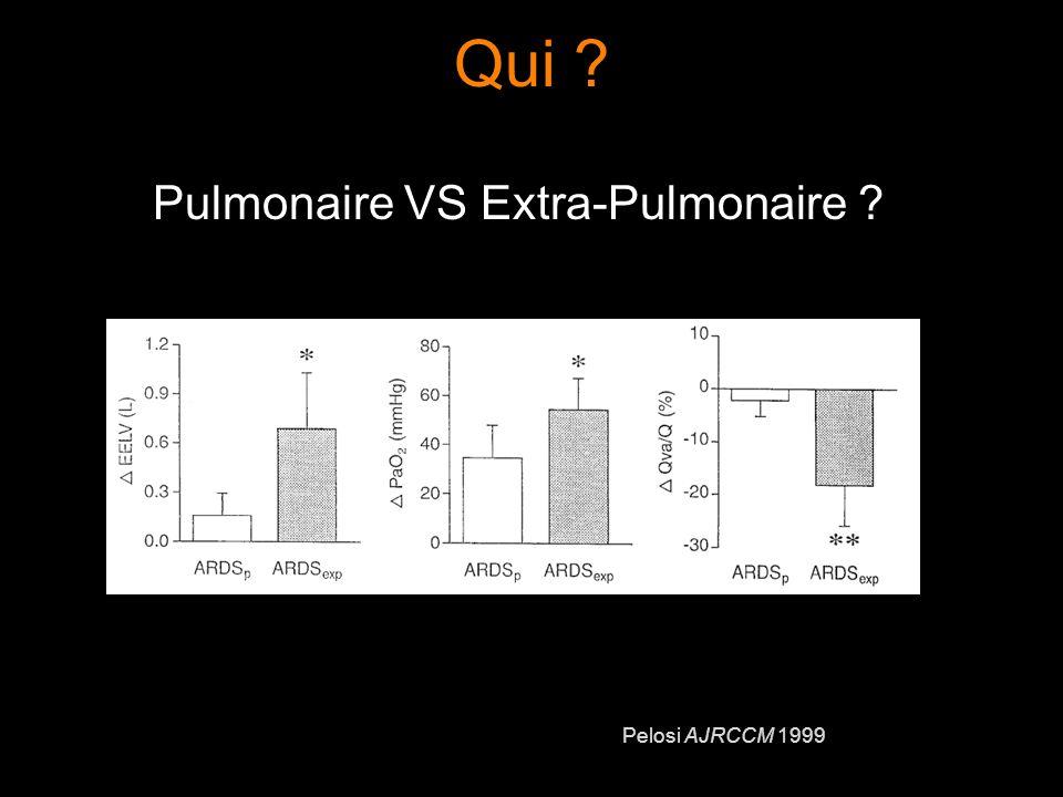 Qui ? Pulmonaire VS Extra-Pulmonaire ? Pelosi AJRCCM 1999