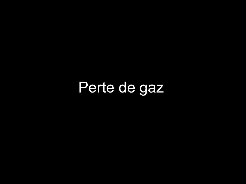 Perte de gaz